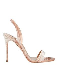 Aquazzura So Nude 105 Velvet Sandals