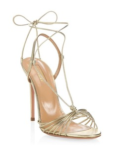 Aquazzura Soft Gold Whisper Sandals