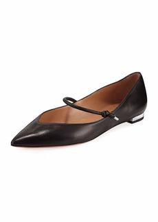 Aquazzura Stylist Leather Mary Jane Ballet Flats