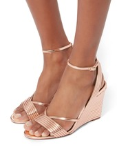 Aquazzura Sundance Wedge Ankle Strap Sandals