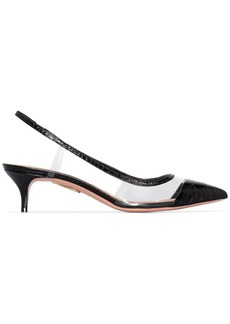 Aquazzura Temptation 45mm slingback pumps
