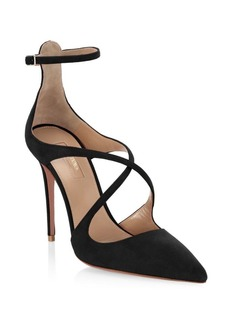 Aquazzura Viviana Leather Pumps