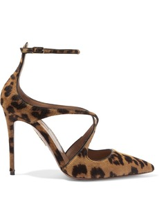 Aquazzura Viviana Leopard-print Calf Hair And Leather Pumps