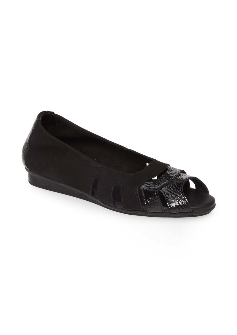 Arche Ninova Peep Toe Flat (Women)