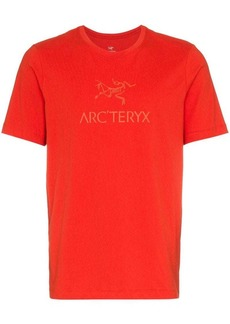 Arc'teryx Red logo printed crew neck cotton t-shirt