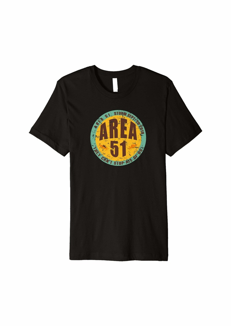 Area 51 5K Pun Shirt Alien Roswell New Mexico Premium T-Shirt