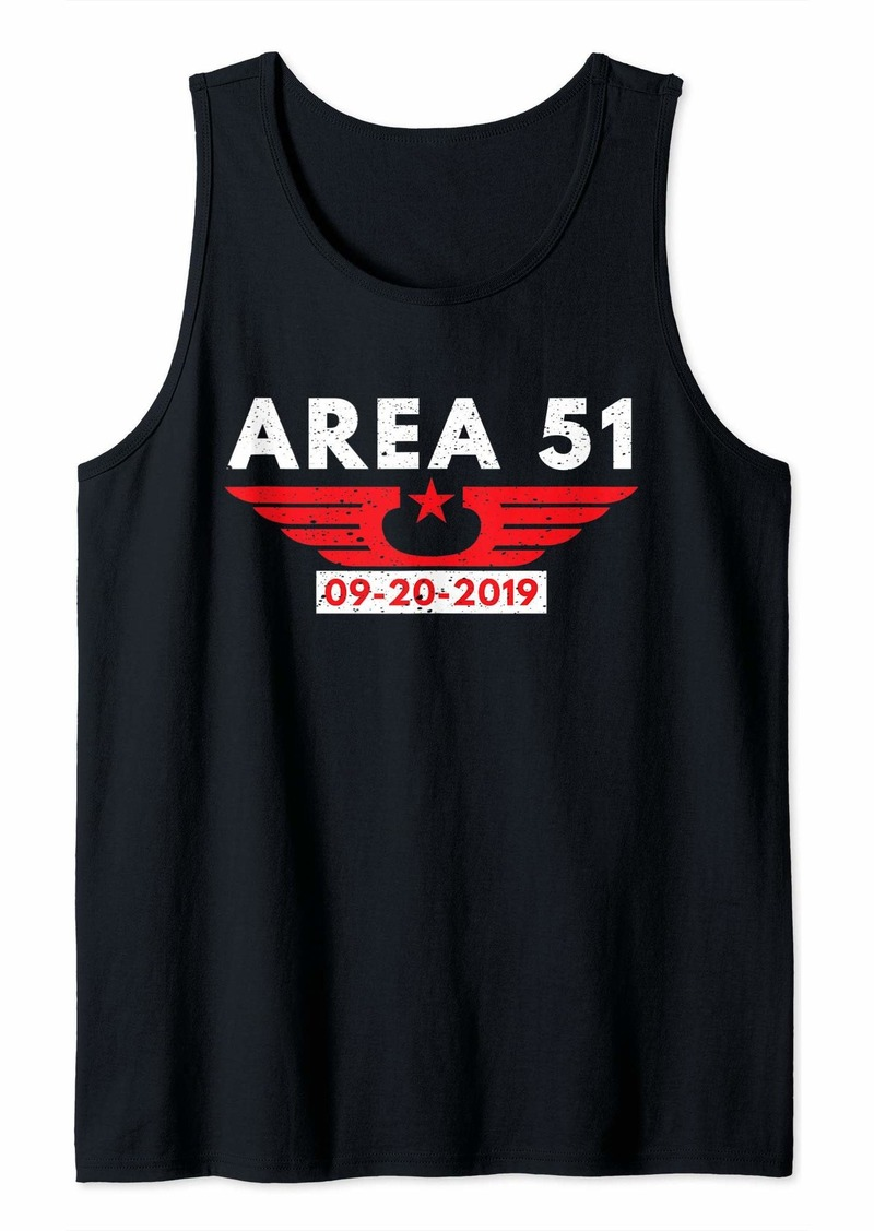 Area 51 Alien Aviation Star 09 - 20 - 2019 Funny Gift Idea Tank Top