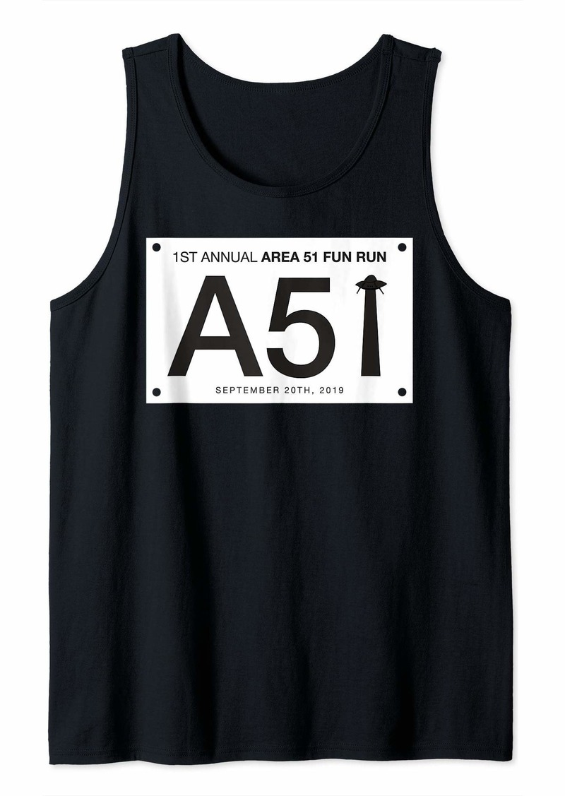 Area 51 Fun Run Shirt UFO Runner Alien Event Gear Tank Top