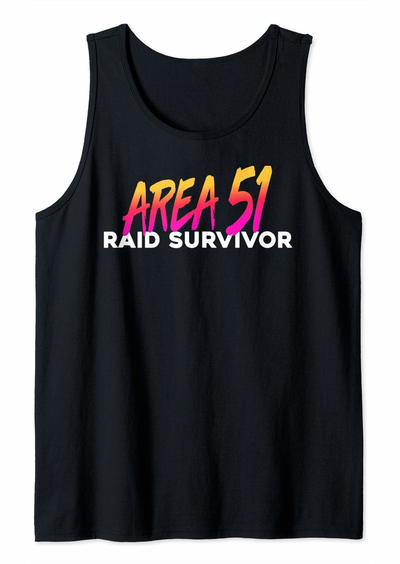 Area 51 Raid Survivor Tank Top