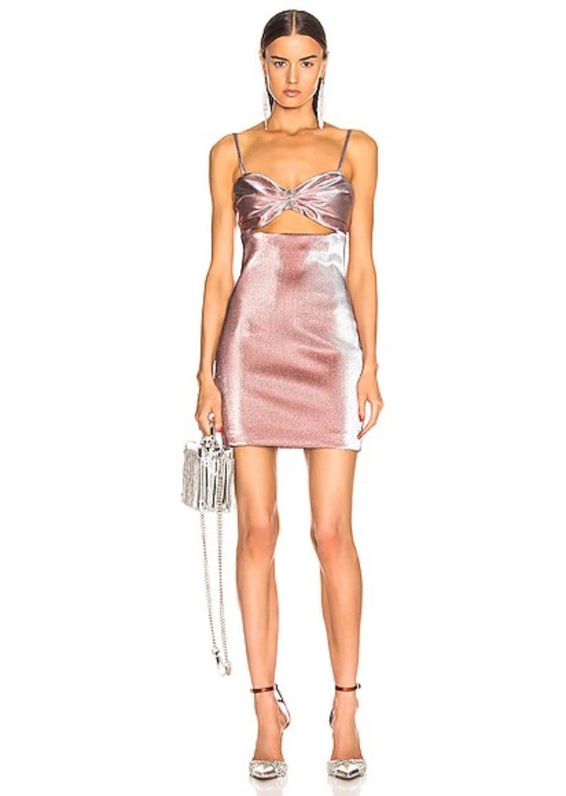 AREA Bra Lame Dress
