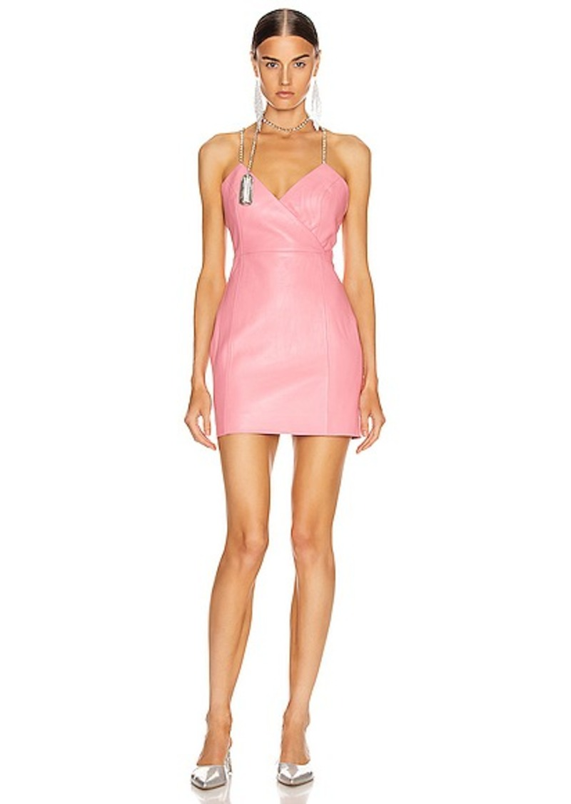 AREA Chandelier Tassel Strap Mini Dress
