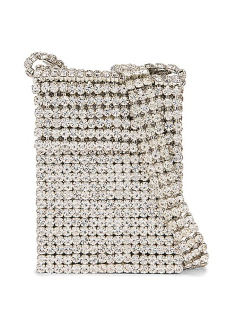 AREA Crystal Flapper Mini Bag