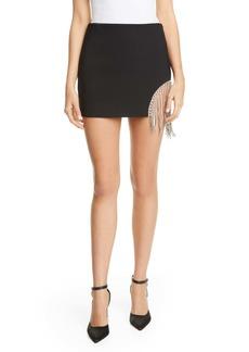 Area Crystal Fringe Miniskirt
