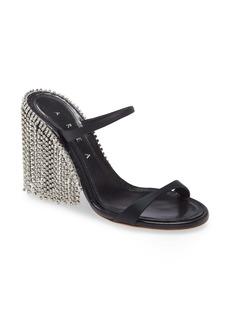 Area Crystal Fringe Sandal (Women)
