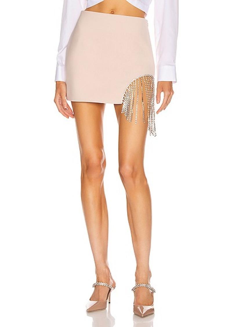 AREA Crystal Fringe Skirt