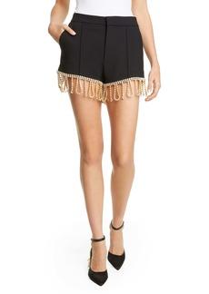 Area Crystal Hem Tailored Shorts