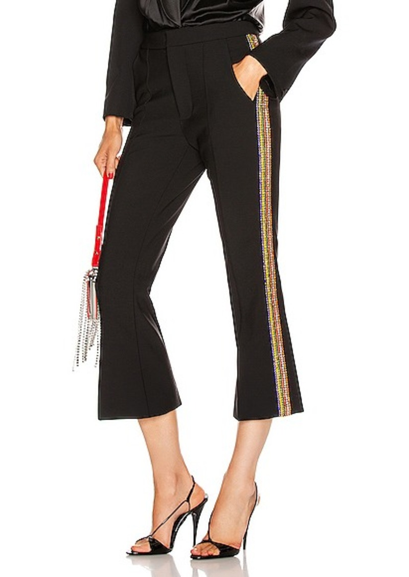 AREA Crystal Stripe Cropped Flare