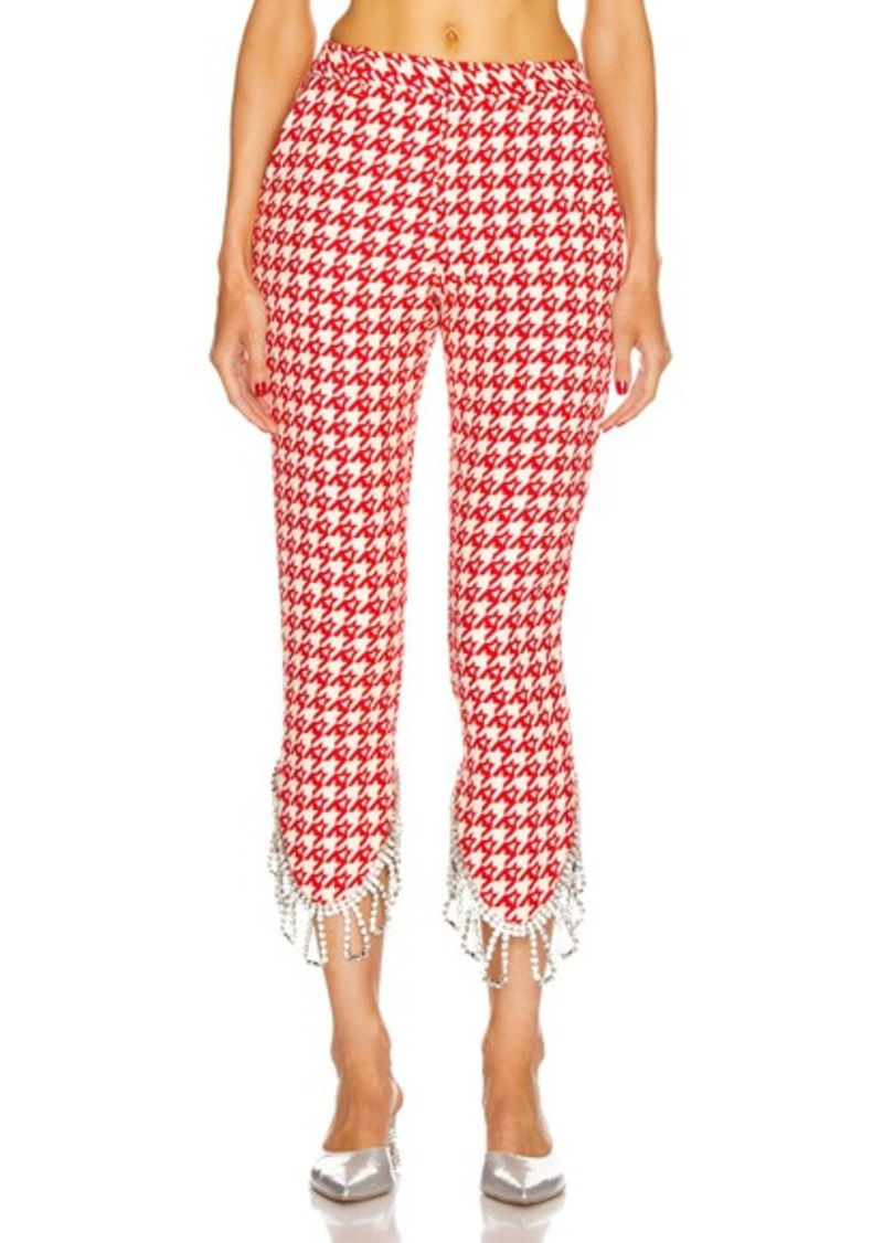 AREA Crystal Trim Trouser