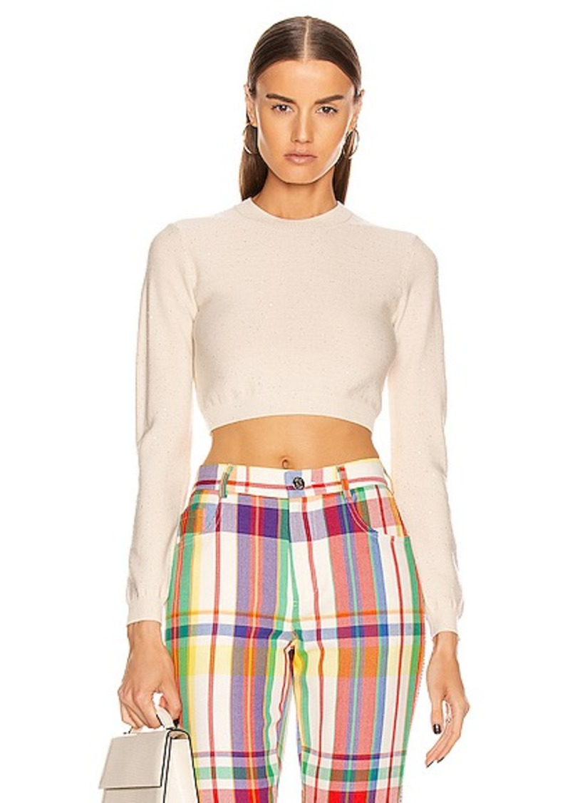 AREA Knit Crop Top