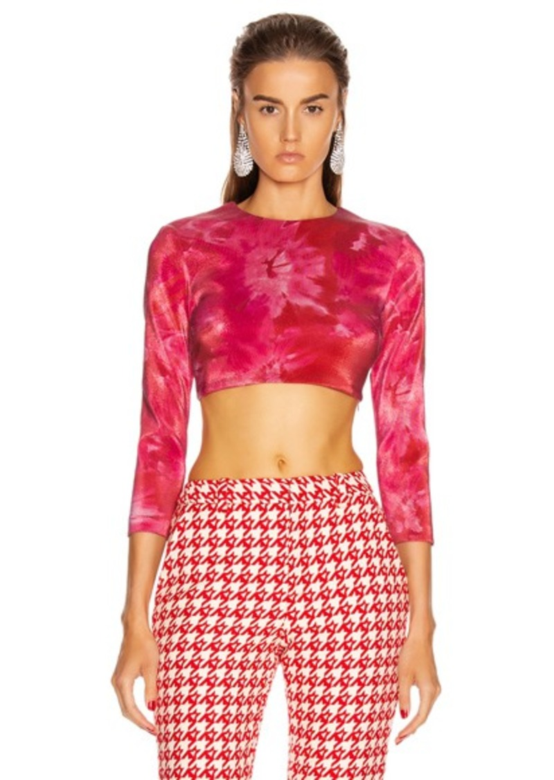 AREA Long Sleeve Cropped Top