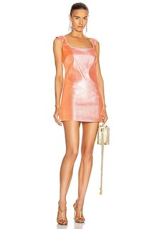 AREA Open Back Mini Dress