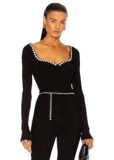 AREA Rib Knit Bodysuit