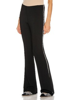 AREA Slim Flared Pant with Crystal Trim