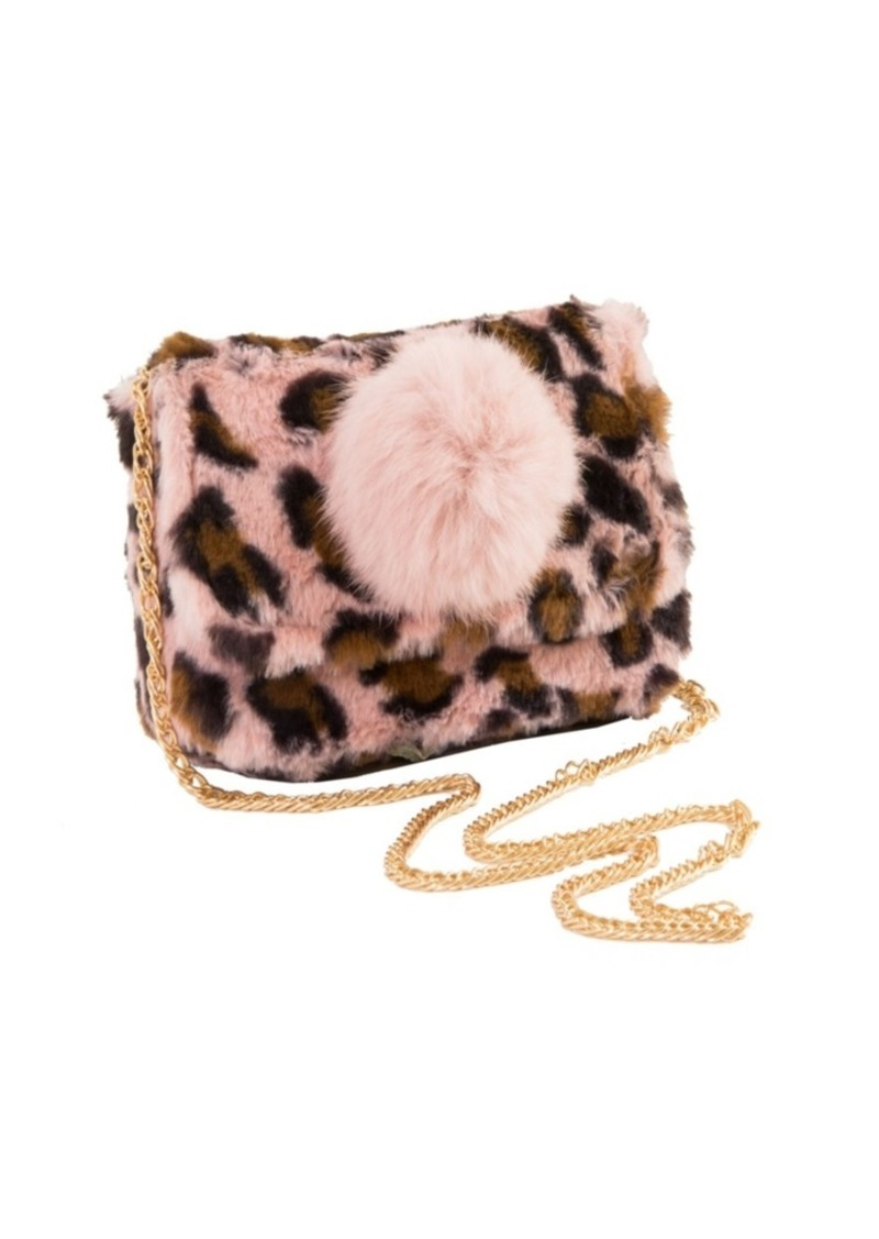 Area Stars Faux Fur Bag with Pom Pom Detail