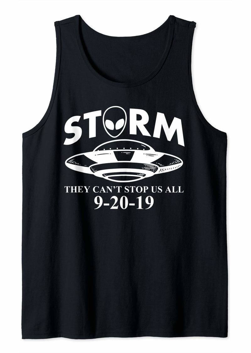 Area Storm 51 they can't stop us all Funny Alien UFO Tank Top