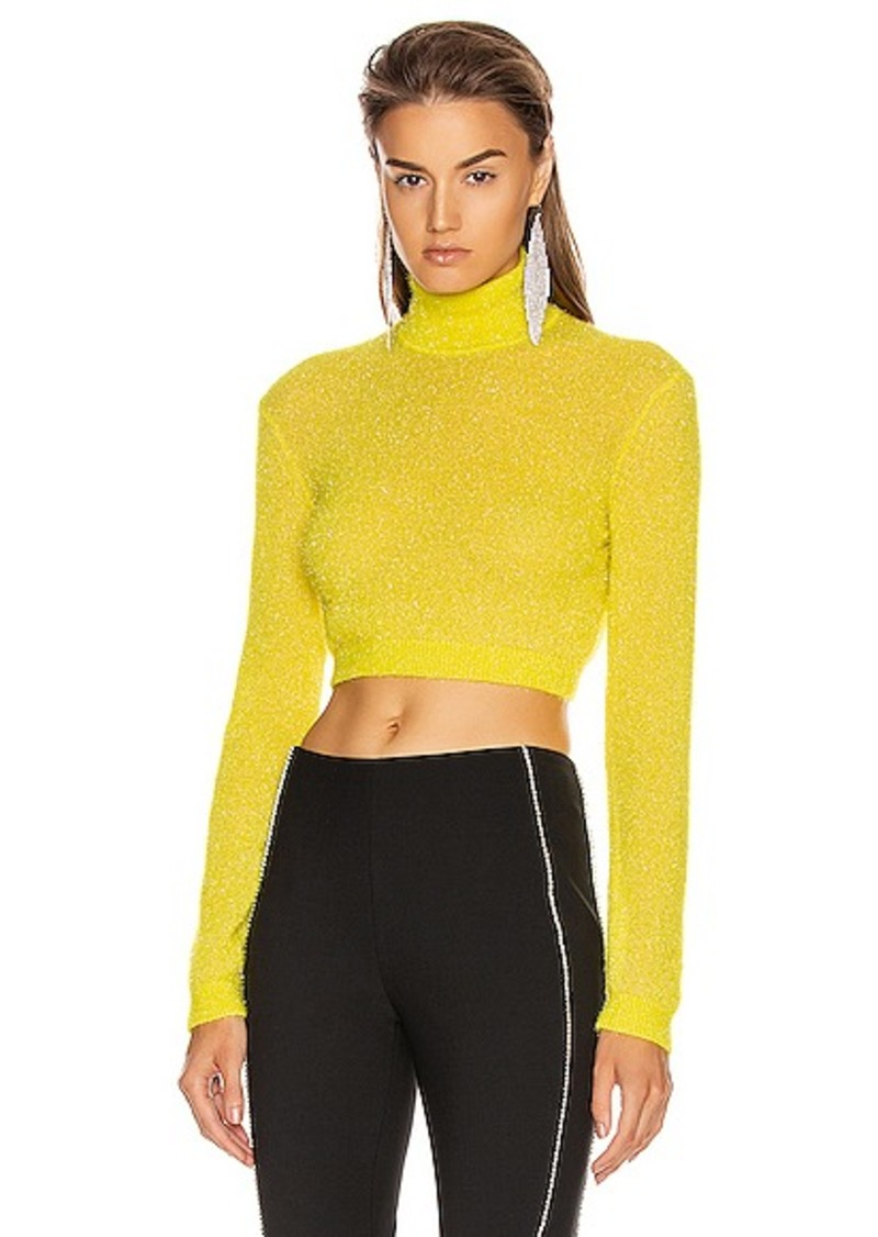 AREA Turtleneck Crop Top