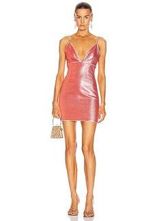 AREA V-Neck Mini Dress