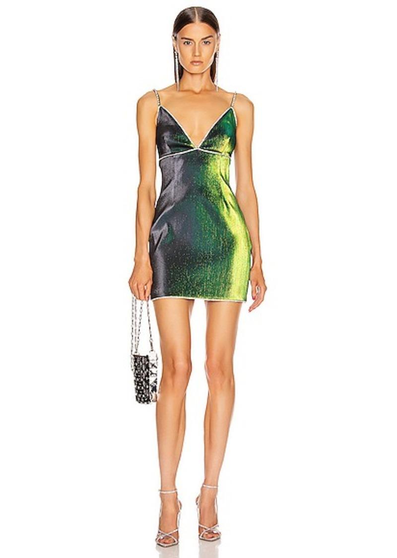 AREA V Neck Mini Dress