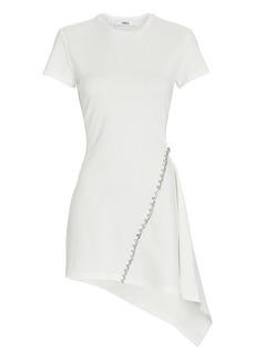 Area Crystal-Embellished Asymmetrical Mini Dress