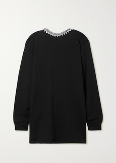 Area Crystal-embellished Cotton-jersey Mini Dress