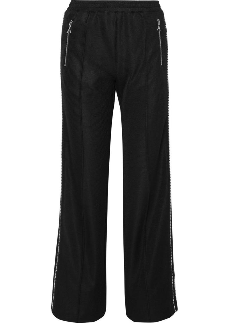 Area Crystal-embellished Jersey Track Pants