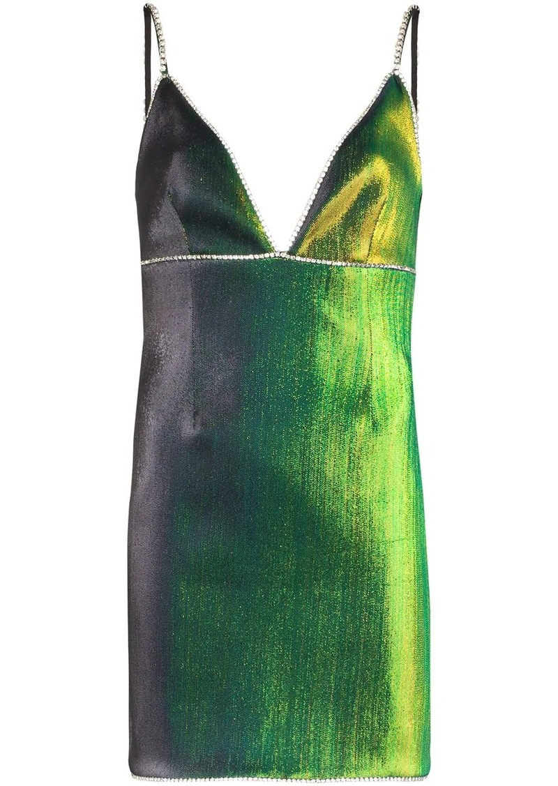Area crystal-embellished mini dress