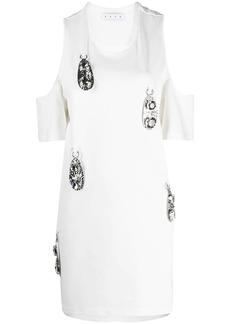 Area crystal-embellished short-sleeve top