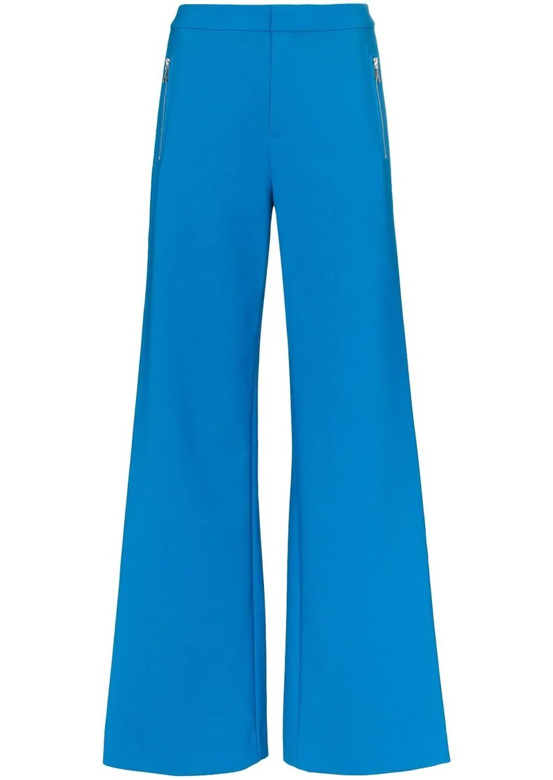 Area rhinestone stripe wide leg trousers