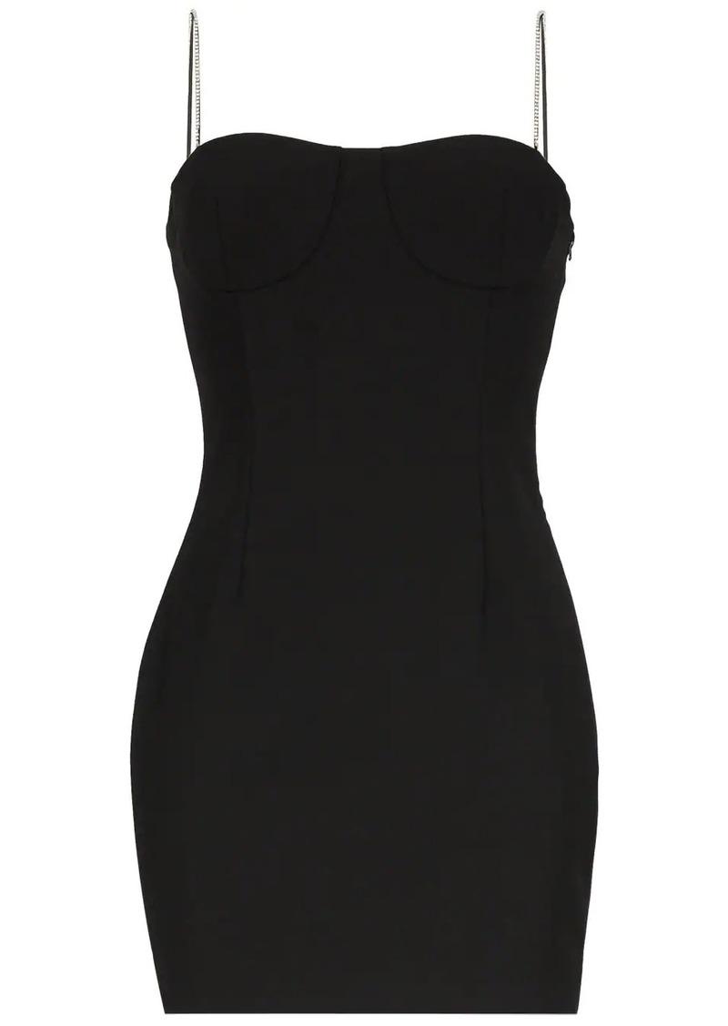 Area embellished strap mini dress