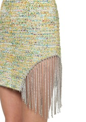 Area Embellished Viscose Blend Tweed Dress