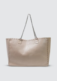 Area Wooster Tote Bag In Grey Leather