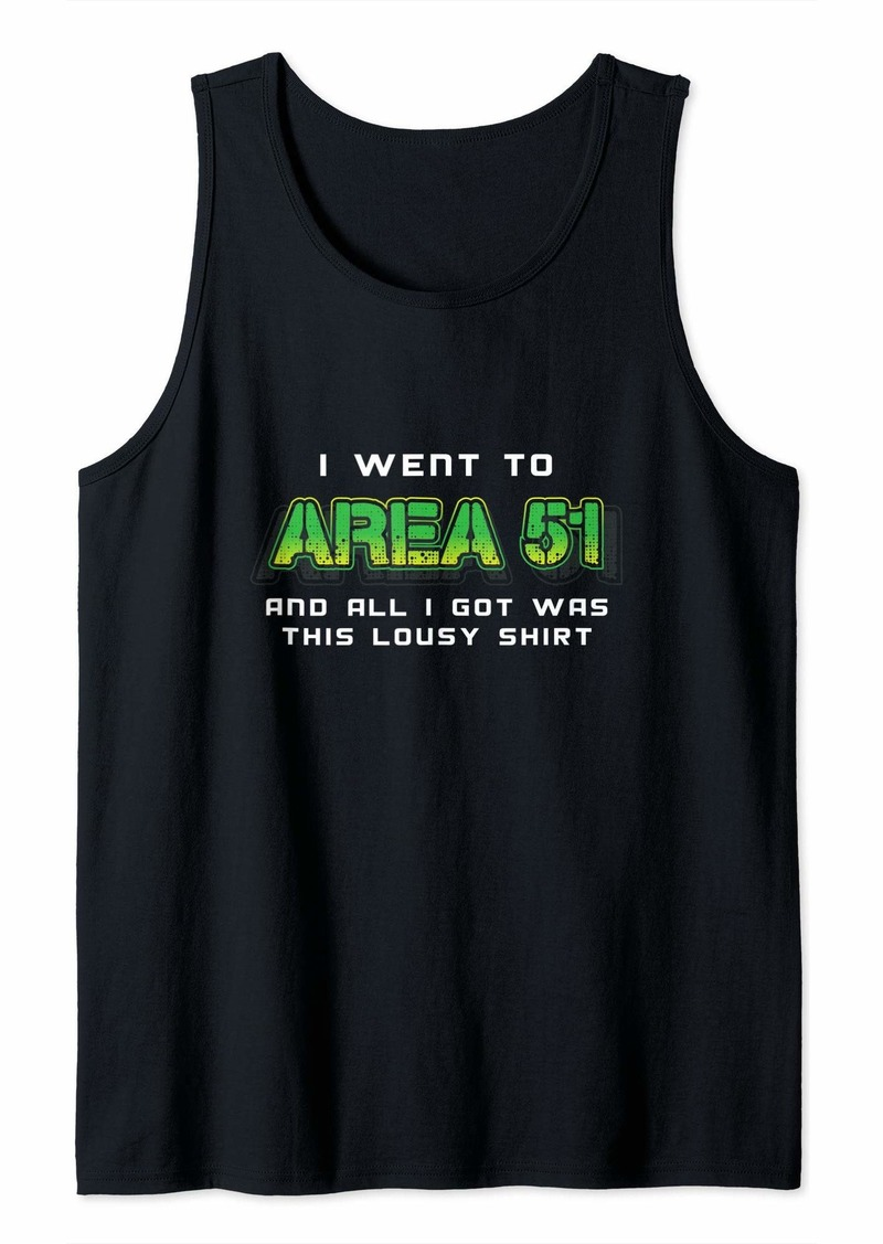 Funny Area 51 Shirt Tank Top
