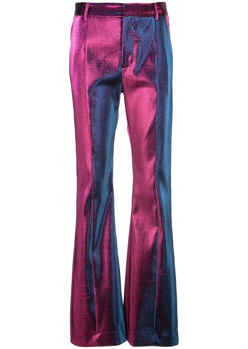Area high waisted flared trousers