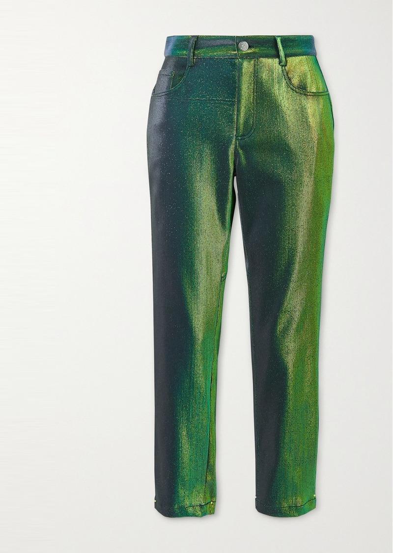 Area Lurex Straight-leg Pants