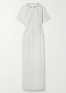 Area Open-back Crystal-embellished Stretch-jersey Maxi Dress