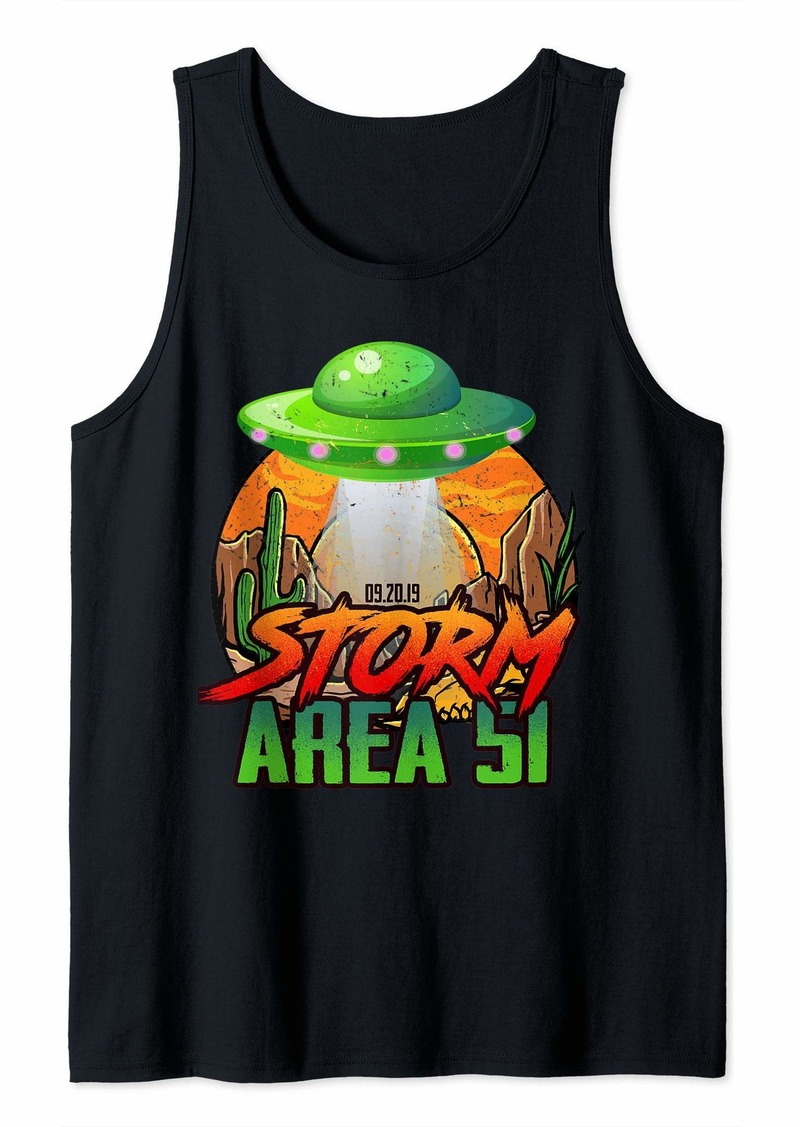 Storm Area 51 Alien UFO Tank Top