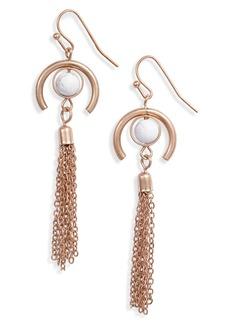 Women's Area Stars Howlite Tassel Drop Earrings