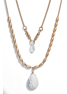Women's Area Stars Layered Pendant Necklace