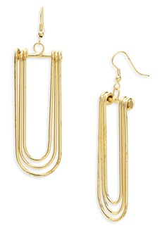 Women's Area Stars Ritz Concentric Loop Drop Earrings