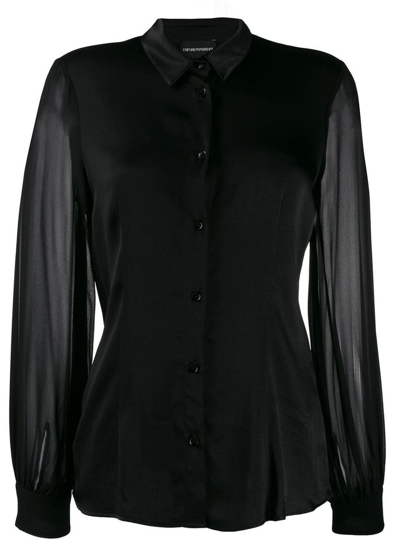 Armani sheer sleeved shirt
